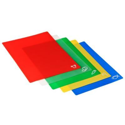 Pack de 5 planches à découper flexibles - polythylène anti bactérien - 30.5 x 38 cm