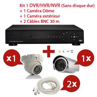 2/M/égapixels Noir Foscam fn3109h/NVR Network Enregistreur vid/éo avec 9/canaux HD Cam/éra IP sans fil
