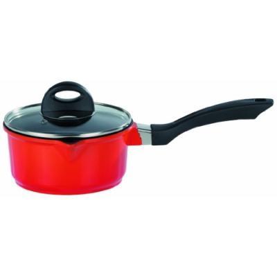 gsw gourmet 469159 casserole à induction avec couvercle en verre teinte orange 16 cm 1,3 l
