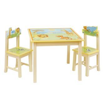 Mobilier bébé PEGANE Ensemble Table et 2 chaises pour Enfant