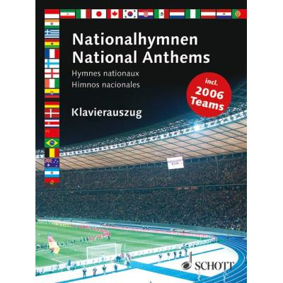 Partitions classique SCHOTT NATIONAL ANTHEMS PIANO SOLO OR WITH VOICE Piano