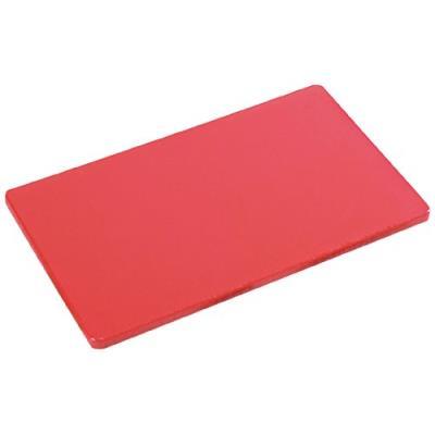 Kesper 30143 planche à découper pour viande plastique rouge 32,5 x 26,5 x 1,5 cm