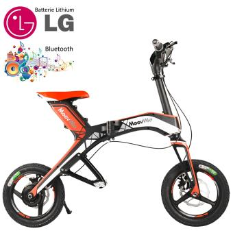 mini scooter lectrique pliable batterie lithium port usb 30 km h 48v rouge connect bluetooth. Black Bedroom Furniture Sets. Home Design Ideas