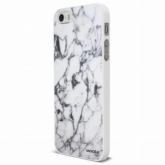 Coque Iphone SE crystal marbre blanc