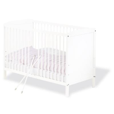 Pinolino - Lit bébé à barreaux blanc 120 x 60 cm