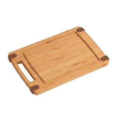 Kesper 2051604 planche à découper avec finition antidérapant en bambou 30 x 20 x 1 cm