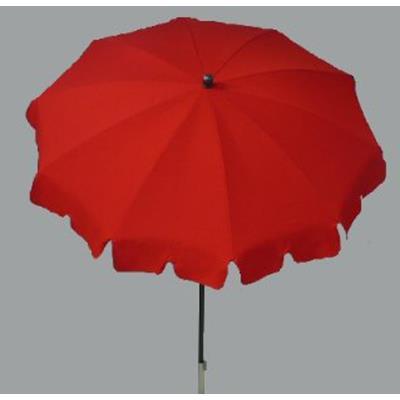 Parasol rond centré coloris Rouge - Dim : H 230 x D 200/10 cm-PEGANE-