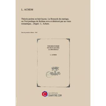 Théorie Poème En Huit Leçons La Boussole Du Mariage Ou L