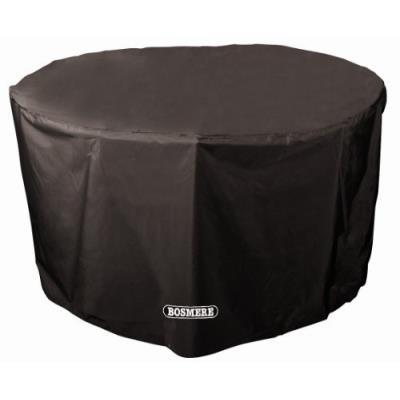 Bosmere D545 Storm Black Housse Pour Table De Jardin De 4/6 Places Rond Noir 71 Cm
