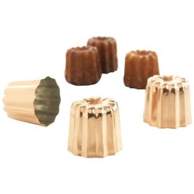 patisse 719197 lot de 3 cannelés bordelais cuivre 17,5 x 6 x 6 cm