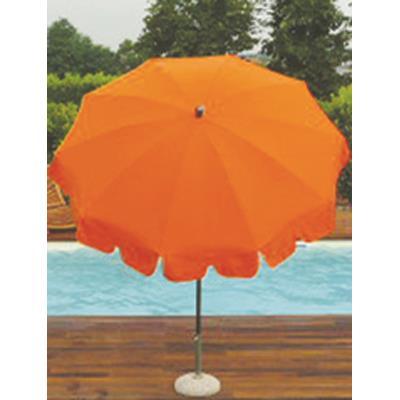 Parasol rond centré coloris Orange - Dim : H 230 x D 200/10 cm-PEGANE-