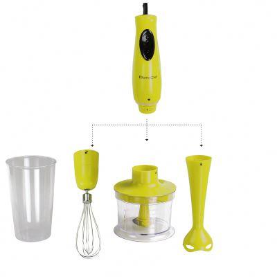 Mixeur plongeur multifonctions vert 300W (hachoir/mixeur