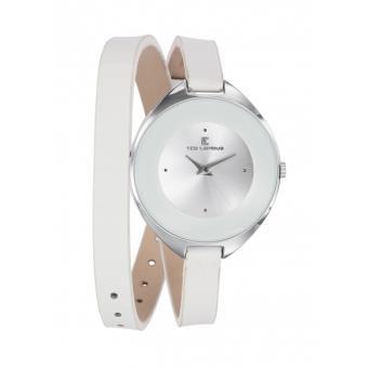 montre ted lapidus a0549ranf montre bracelet double tour cuir blanche femme montre femme. Black Bedroom Furniture Sets. Home Design Ideas