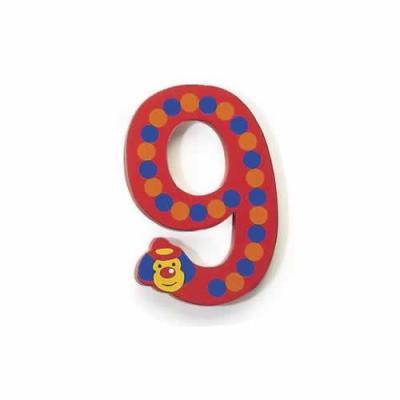Bougie Clown Chiffre 9 en Bois