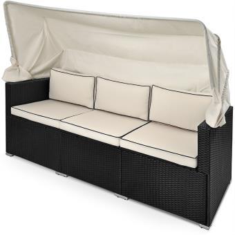 Divan Lounge canapé de jardin avec toit pare-soleil - Salon ...