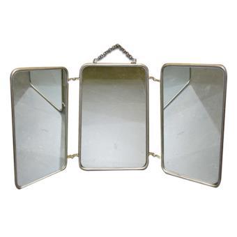 miroir barbier tryptique vintage dimensions 60x30 cm achat prix fnac. Black Bedroom Furniture Sets. Home Design Ideas