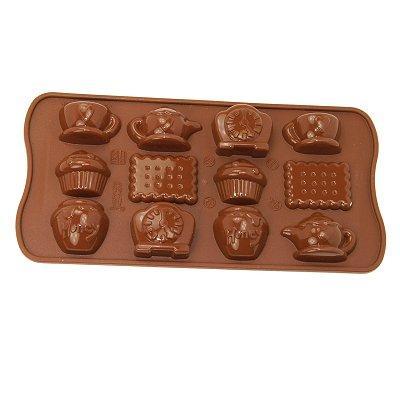 Moule en silicone - Moule à chocolat Easy Choc : Tea time