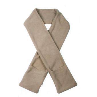 Echarpe chauffante à piles avec poches - Marron clair, Echarpe, Top Prix    fnac f056f77f926