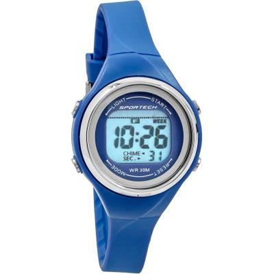 Sportech SP10702 - Sport - Montre Femme - Quartz Digital - Cadran Bleu - Bracelet Plastique Bleu