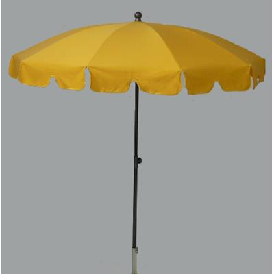 Parasol rond centré coloris Maïs - Dim : H 230 x D 200/10 cm-PEGANE-