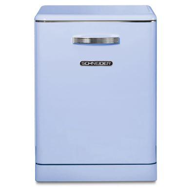 Lave-vaisselle pose libre Vintage 14 couverts - 44 dB - départ différé 3/6/9h - SCHNEIDER SDW1444VBL - coloris bleu - A++/A/A