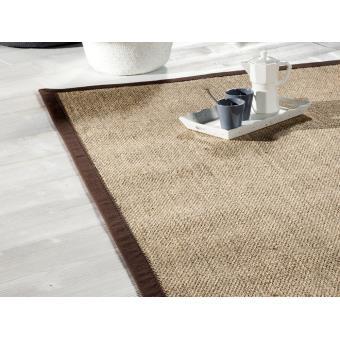 tapis sisal avec ganse en coton bayview achat prix fnac - Tapis Sisal