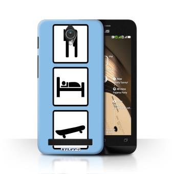 Coque De Stuff4 Etui Housse Pour Asus Zenfone C ZC451CG Patin Skateboard Bleu Design Manger Sommeil Collection