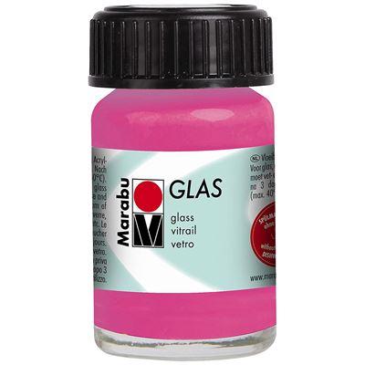 Marabu glas peinture pour verre, 15 ml rose