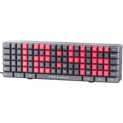 Horloge à LED design clavier PC
