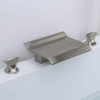 Robinet de lavabo encastrable installation 3 trous en nickel brossé ...