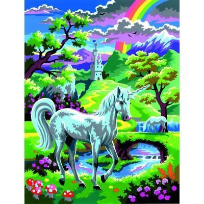 Oz International - Peinture au numéro - Débutants : Une licorne au pays des fées