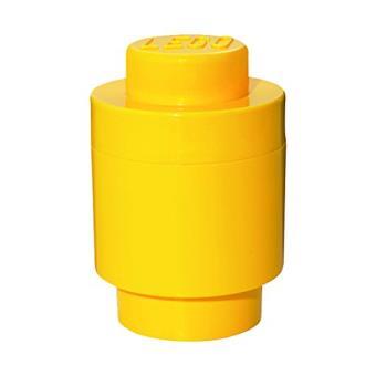 room copenhagen rc40301732 lego bo te de rangement ronde 1 brique plastique jaune 45 x 35 x 25. Black Bedroom Furniture Sets. Home Design Ideas