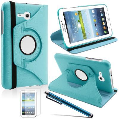 ADVANSIA® HOUSSE 360 COQUE ROTATIVE ETUI TABLETTE SAMSUNG Galaxy tab 4 7.0 T230 Bleu lagon