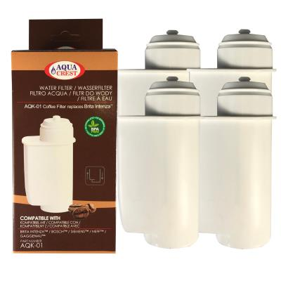 Cartouche Filtrante Bosch Aqk01 Aquacrest Remplace Intenza Brita Lot De 4