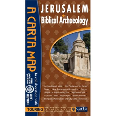 Jerusalem Biblical Archaeology Map