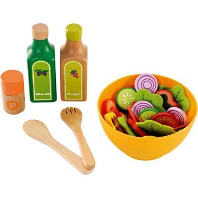 Hape Cuisine Set de salade jouet en bois enfant 3 ans + Jeu d'imitation dinette