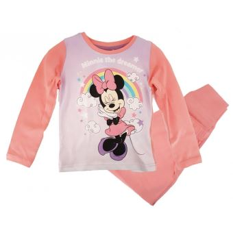 3850b0ace26f9 Minnie Pyjama manches longues Fille Coton - Rose - 3 ans