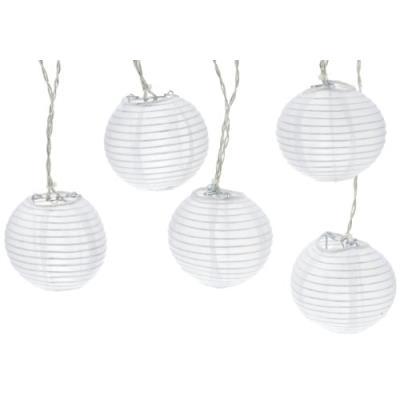 Best season 476-09 guirlande lumineuse boules extérieur lumière du jour blanc 4,5 m 10 led