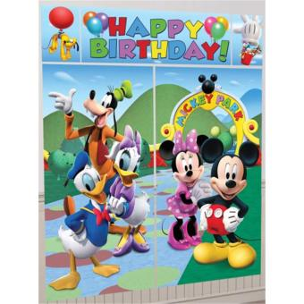 Kit de Décorations Murales Anniversaire Mickey (Disney) - Article Decoration Mickey Anniversaire on