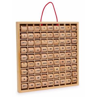 Tableau éducatif en bois des tables de multiplications Marina