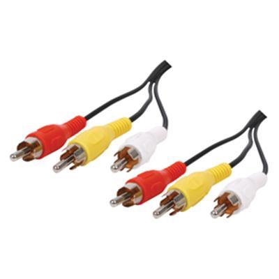 Câble avec fiche RCA x3 mâle et fiche RCA x3 mâle 2m50