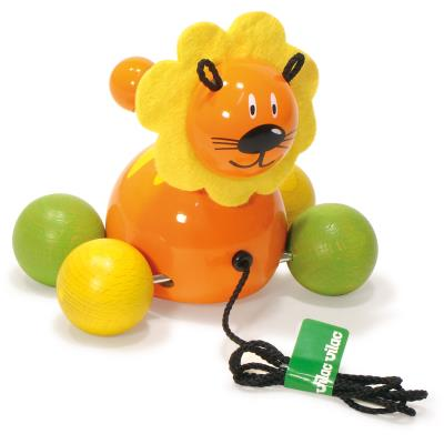 Lionceau en bois à tirer Sam