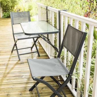 Wilsa Table de jardin DE BALCON PLIANTE - Mobilier de Jardin - Achat ...