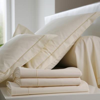 Taie d'oreiller Coton BLANC DES VOSGES 65 x 65 cm Coquille