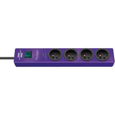 Brennenstuhl - brennenstuhl multiprise parafoudre hugo!, 4 prises, violet 1150611334
