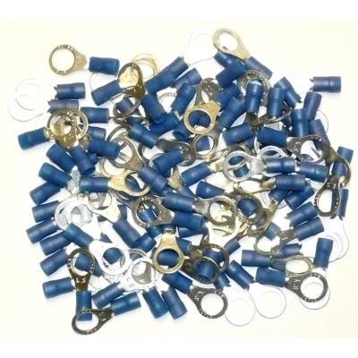 Cosses Electriques A Oeil De 8 Bleues Sachet De 100 Cosses