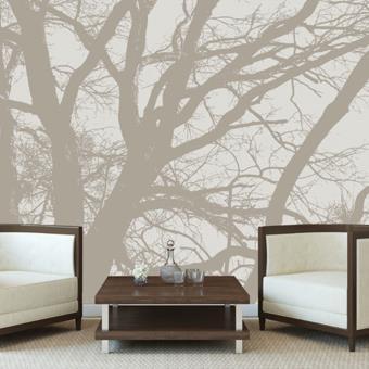 Papier peint arbre zen   e papier peint.  Beige   Décoration