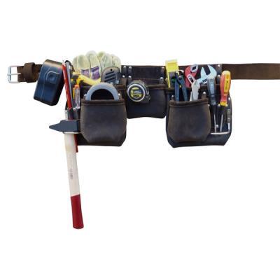 Outifrance - Ceinture à outils pro cuir 11 compartiments