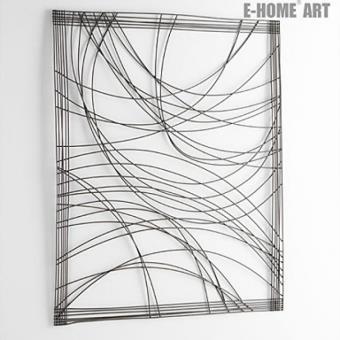 Decoration Murale Abstraite De Style Rustique A Motif Geometrique