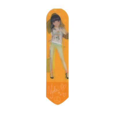 Top model - marque-page dessin lenticulaire - nyela - orange